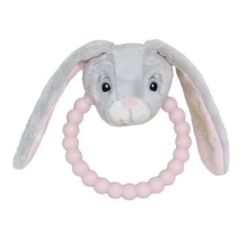 MY TEDDY STAR SILICONE RATTLE ROSE 63780420